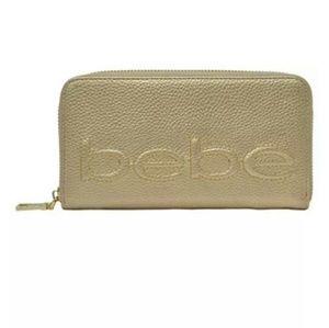 bebe Bailey Zip Around Wallet
